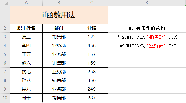Excel常用函数公式:if/sumif/countif的详细用法